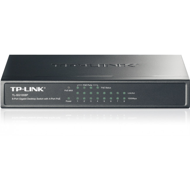 TP-LINK Switch TL-SG1008P, 8 port, 10/100/1000 POE