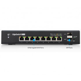 EdgeSwitch 8 Managed PoE+ 150W Gigabit Switch with SFP (ES?8?150W)