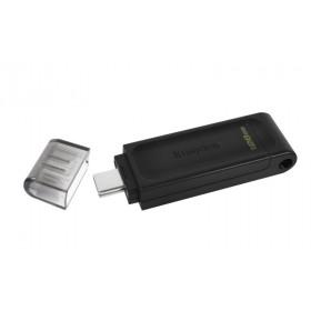 KINGSTON USB Stick Data Traveler DT70/128GB, USB 3.2 Type-C, Black
