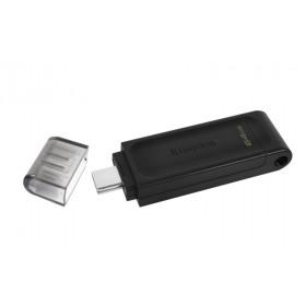 KINGSTON USB Stick Data Traveler DT70/64GB, USB 3.2 Type-C, Black
