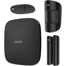 AJAX - STARTER KIT 7563 Σετ κεντρικής μονάδας με ανιχνευτή κίνησης, σε μαύρο χρώμα